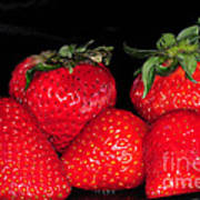 Strawberries Art Print by Paul Ward