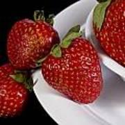 Strawberry Arrangement With A White Bowl No.0036 Art Print