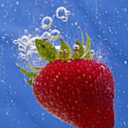 Strawberry Soda Dunk 3 Art Print by John Brueske