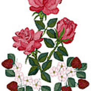 Strawberry Wine And Roses Art Print