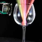 Straws In A Glass At Resonance Art Print