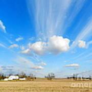 Streaming Sky Art Print