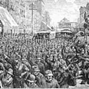 Street Car Strike, 1886 Art Print