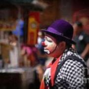 Street Clown At Central Park Art Print