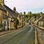 Street In Castle Combe Art Print