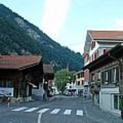 Street In Interlaken In Switzerland Art Print