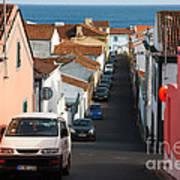 Street In Lagoa - Azores Art Print