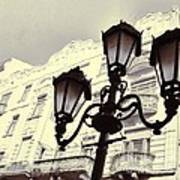 Street Lamps Of Budapest Hungary Art Print