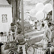 Street Life In Kathmandu Art Print