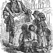 Street Musician, 1850 Art Print
