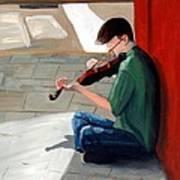 Street Musician 3 Art Print