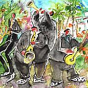 Street Musicians In Cyprus Art Print