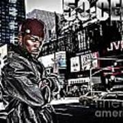 Street Phenomenon 50 Cent Art Print