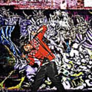 Street Phenomenon Chris Brown Art Print by The DigArtisT