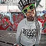 Street Phenomenon Lil Wayne Art Print