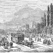 Street Railway, 1853 Art Print