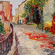 Streets Of Old Cannes Art Print