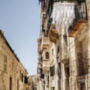 Streets Of Valetta Art Print