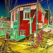 Streets Of Valparaiso Art Print
