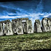 Striking Scene Of Stonehenge Art Print