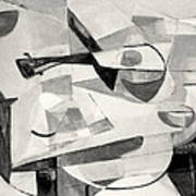 Stringed Instrument On Table Art Print