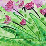 Stringy Tulips Art Print