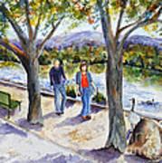 Strolling Virginia Lake Art Print