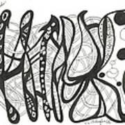 Strut Your Swirls Art Print
