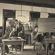 Students Constructing Telephones Art Print by Everett