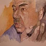 Study For Rev Joe Art Print by Ray Agius