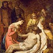 Study Of The Lamentation On The Dead Christ Art Print
