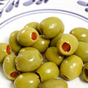 Stuffed Green Olives Art Print