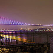 Stunning Istanbul Bridge Art Print