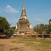 Stupa Chedi Of A Wat In Thailand Art Print