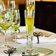 Stylish Dining Table Arrangement Art Print