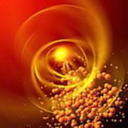 Subatomic Particles Abstract Art Print by Mehau Kulyk