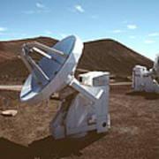 Submillimetre Array Telescopes Art Print