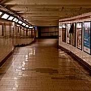 Subway Tunnel Art Print
