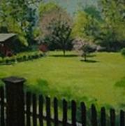 Sue's Yard Art Print by Mark Haley