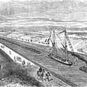 Suez Canal, 1868 Art Print