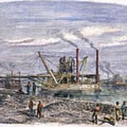 Suez Canal Construction Art Print