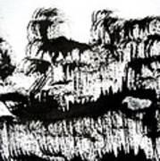 Sumi-e 120726-1 Art Print