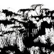 Sumi-e 120726-4 Art Print