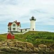Summer Afternoon At Nubble Light Art Print