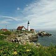 Summer At Portland Head Light Art Print