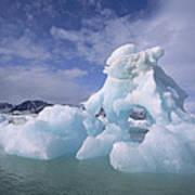 Summer Icebergs, Spitsbergen Island Art Print