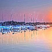 Summer Sails Reflections Art Print