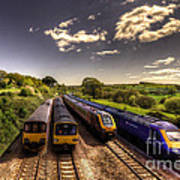 Summer Saturday At Aller Junction Print by Rob Hawkins
