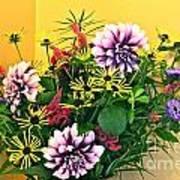 Summer To Autumn Bouquet Art Print