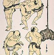 Sumo Wrestlers, 1817 Art Print